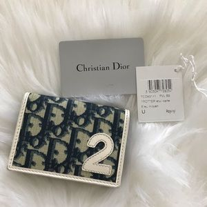 AUTH Christian Dior Trotteur Card Case